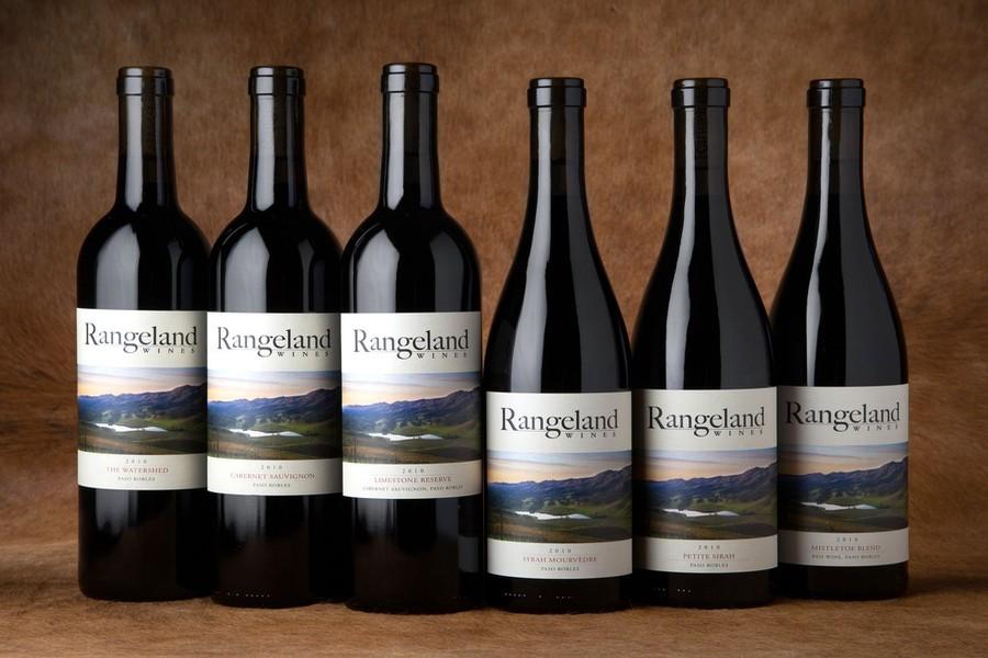 Bottles of Rangeland Wines, group of 6